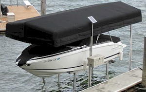 Constant exposure to sun wind and driving rain can ruin your watercraft from the inside out. Cracking fading and peeling not only takes away from the look ... & Boat Lift Canopies at DockStop | DockStop: Boat Docks Lifts ...